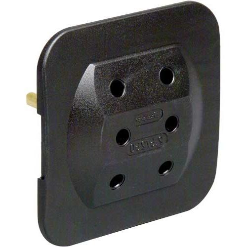 kopp 3 fach extra flach euro adapter wei oder schwarz. Black Bedroom Furniture Sets. Home Design Ideas
