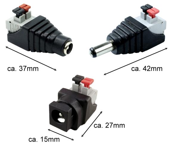 DC Verteiler 2-fach 5,5 2,1 mm Hohlstecker LED Kamera Kabel ER