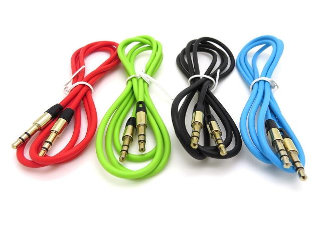 1m farbige 3 5 mm klinke kabel audio stereo klinkenkabel. Black Bedroom Furniture Sets. Home Design Ideas