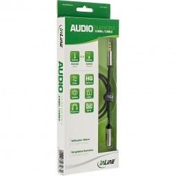 InLine® Slim Audio Verlängerungskabel Klinke 3,5mm ST/BU, Stereo | 0,5m - 10m