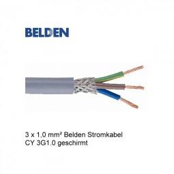 Belden Stromkabel Netzkabel CY 3G1.0 Geschirmt