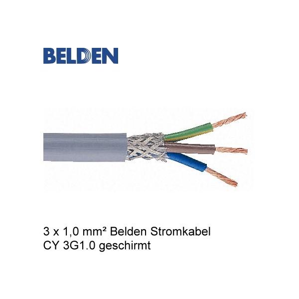 Belden Stromkabel Netzkabel CY 3G1.0 Geschirmt - Meterware | HI-FI ...