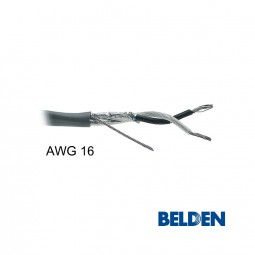 BELDEN Audiokabel 2-adrig AWG 16 abgeschirmt paarverseilt