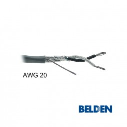 BELDEN Audiokabel 2-adrig AWG 20 abgeschirmt paarverseilt