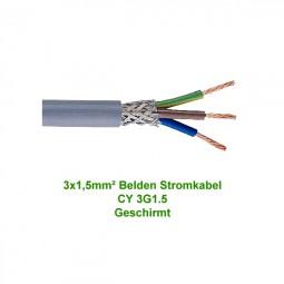 Belden Stromkabel Netzkabel CY 3G1.5 Geschirmt