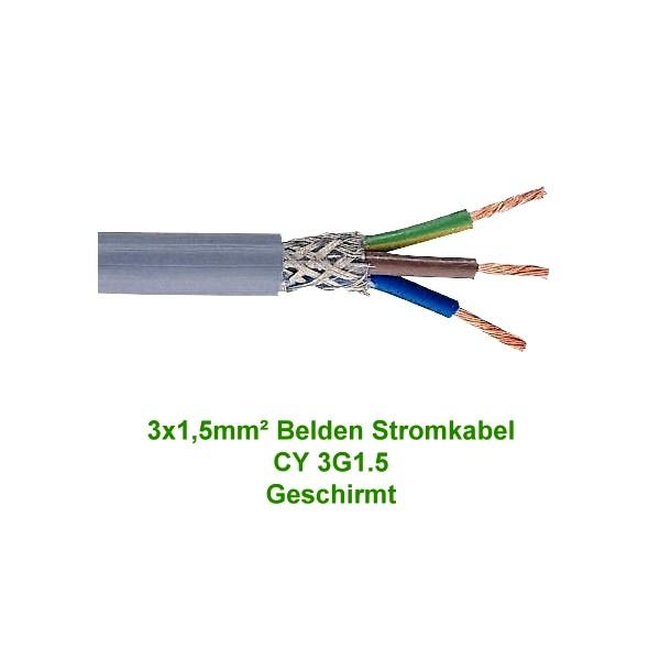Belden Stromkabel Netzkabel CY 3G1.5 Geschirmt - Meterware | HI-FI ...