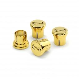 4er Dynavox High-End Cinch-Schutzkappen Set   24 K vergoldet