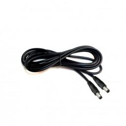 DC Kabel 1,0 m lang Niedervolt Kabel schwarz 2,1 / 5,5 mm Steckverbinder
