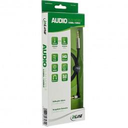 InLine® Slim Audio Kabel gewinkelt Klinke 3,5mm ST/ST, Stereo | 0,5m - 10m