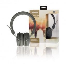 Sweex Bluetooth Kabellose Kopfhörer, grau | Headset für PC, Smartphone. On-Ear Headphones