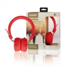 Sweex Bluetooth Kabellose Kopfhörer, rot | Headset für PC, Smartphone. On-Ear Headphones