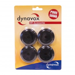 4er-Set Dynavox Alu Gerätefüße Ø 50 mm schwarz Geräte Füsse | Hi-Fi Case Feet
