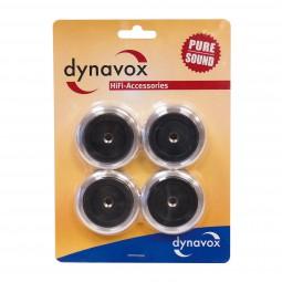 4er-Set Dynavox Alu Gerätefüße Ø 50 mm silber Geräte Füsse | Hi-Fi Case Feet-Copy