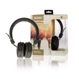 Sweex Bluetooth Kabellose Kopfhörer, schwarz | Headset für PC, Smartphone. On-Ear Headphones